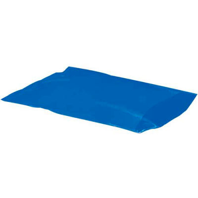 """Flat Poly Bags 15"""" x 18"""" 2 Mil Blue 1,000 Pack"""