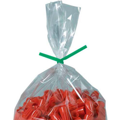 "Paper Twist Ties 10"" x 5/32"" Green 2000 Pack"