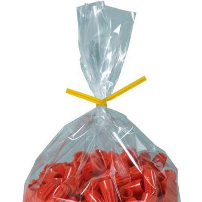 "Paper Twist Ties 10"" x 5/32"" Yellow 2000 Pack"