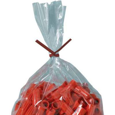 """Paper Twist Ties 12"""" x 5/32"""" Red 2000 Pack"""