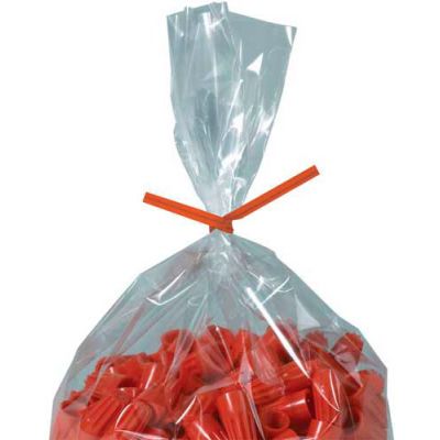"Paper Twist Ties 4"" x 5/32"" Orange 2000 Pack"