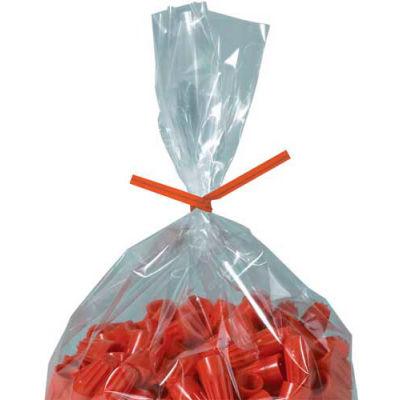 """Paper Twist Ties 6"""" x 5/32"""" Orange 2000 Pack"""
