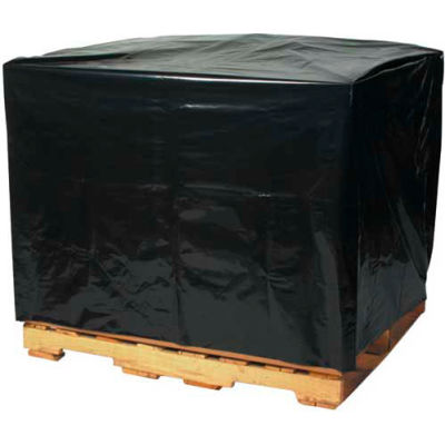 "Black Pallet Covers 48"" x 42"" x 66"" 3 Mil 50 Pack"