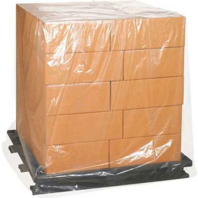 "Clear Pallet Covers 58"" x 40"" x 80"" 3 Mil 50 Pack"