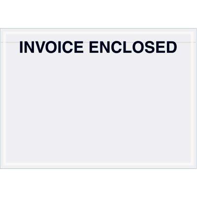 "Panel Face Envelopes - ""Invoice Enclosed"" 5 x 7"" Clear - 1000/Case"