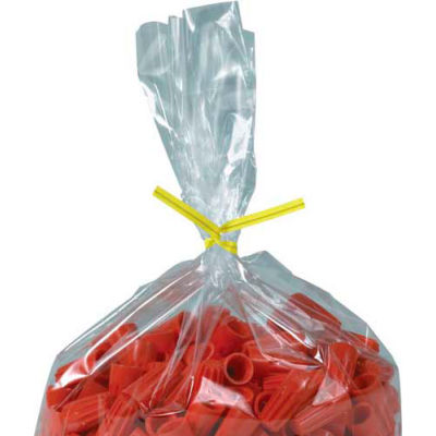 "Plastic Twist Ties 12"" x 5/32"" Yellow 2000 Pack"