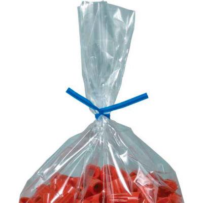 """Plastic Twist Ties 4"""" x 5/32"""" Blue 2000 Pack"""
