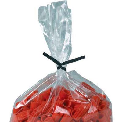 """Plastic Twist Ties 4"""" x 5/32"""" Black 2000 Pack"""