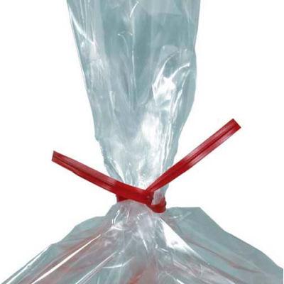 "Plastic Twist Ties 8"" x 5/32"" Red 2,000 Pack"
