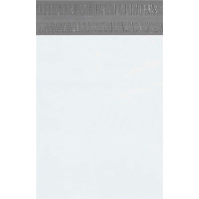 """Returnable Poly Mailers 12"""" x 15-1/2"""", 2.5 Mil White, 100 Pack"""