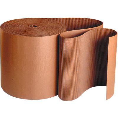 "Singleface Corrugated Roll, 48"" x 250', A Flute, Kraft, 1 Roll"