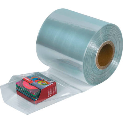 "PVC Shrink Tubing, 100 Ga., 16""W x 1500'L, Clear, 1 Roll"