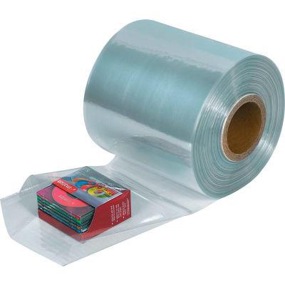 """PVC Shrink Tubing 24""""W x 1,500'L 100 Gauge Clear - 1 Roll"""