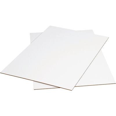 "Corrugated Sheets 24"" x 36"" 200#/ECT-32 White - Pkg Qty 5"
