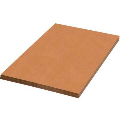 "Corrugated Sheets 30"" x 48"" 200#/ECT-32 Kraft - Pkg Qty 5"