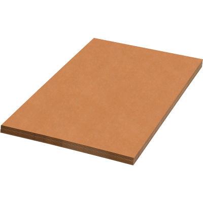 """Single Wall Corrugated Sheets, 48""""L x 40""""W, Kraft - Pkg Qty 5"""