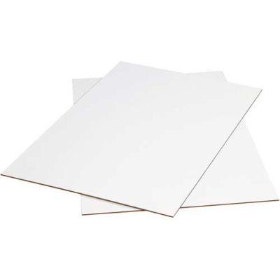 "Corrugated Sheets 40"" x 48"" 200#/ECT-32 White - Pkg Qty 5"