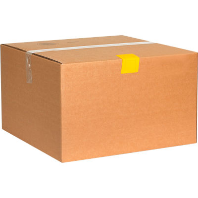 """Plastic Strap Guards 2-1/2"""" x 2"""" Yellow, 1000 Pack"""
