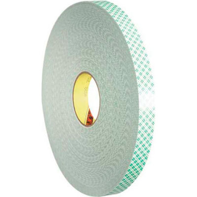 "3M™ 4032 Double Sided Foam Tape 1/2"" x 5 Yds. 1/32"" Thick Natural"