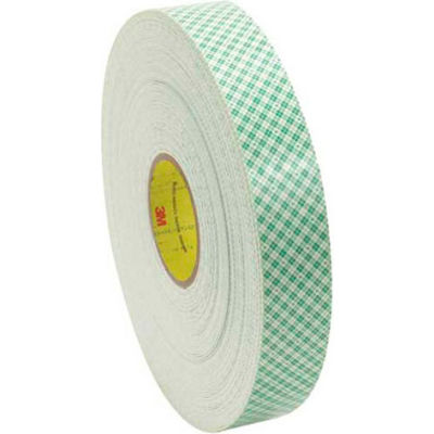 """3M™ 4016 Double Sided Foam Tape 1"""" x 5 Yds. 1/16"""" Thick Natural"""