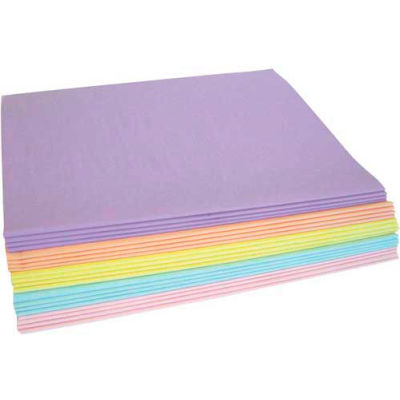 """Tissue Paper, 10#, 20"""" x 30"""", Assorted Pastel Colors, 480 Pack"""