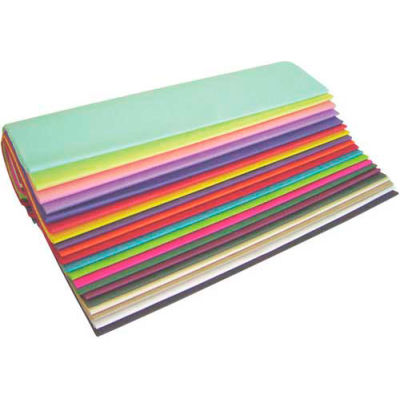 """Tissue Paper, 10#, 20"""" x 30"""", Popular Colors, 480 Pack"""
