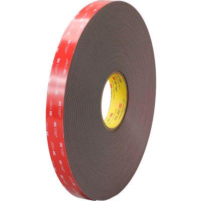 "3M™ 4979F Double Sided VHB™ Acrylic Foam Tape 1"" x 5 Yds. 62 Mil Black"