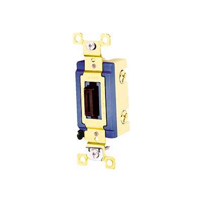 Bryant 4803L Industrial Grade Toggle Switch, Three Way, 15A, 120/277V AC, Locking