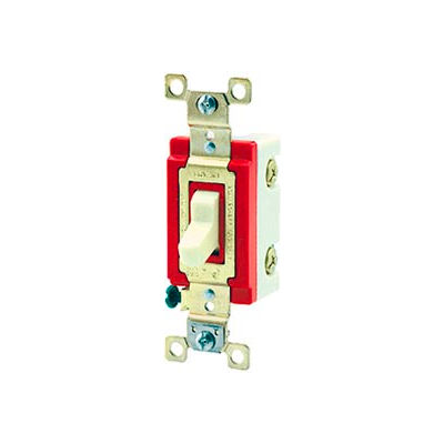 Bryant 4904I Industrial Grade Toggle Switch, Four Way, 20A, 120/277V AC, Ivory