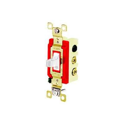 Bryant 4922W Toggle Switch, Single Pole, Double Throw, 20A, 120/277V AC, White