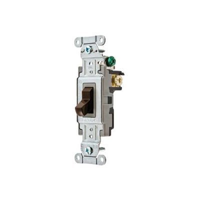 Bryant CSB120B Commercial Grade Toggle Switch, Single Pole, 20A, 120/277V AC, Brown