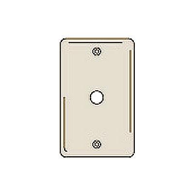 Bryant NP11I Telephone and Coax Plate, 1-Gang, Standard, Ivory Nylon, Box