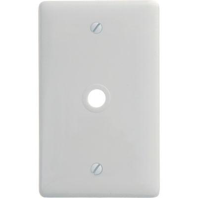 Bryant® Standard White Telephone And Coax Plate, 1-Gang