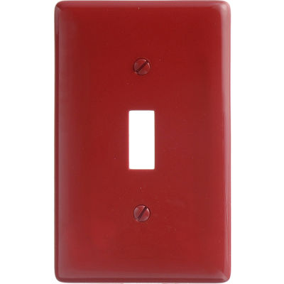 Bryant NP1R Toggle Plate, 1-Gang, Standard, Red Nylon