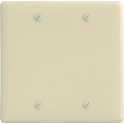 Bryant NP23AL Box Mounted Blank Plate, 2-Gang, Standard, Almond Nylon