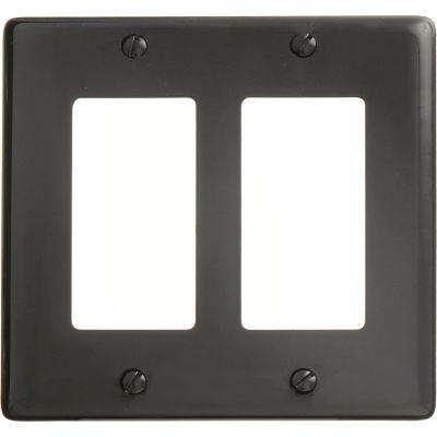 Bryant NP262BK Styleline Rectangular Plate, 2-Gang, Standard, Black Nylon