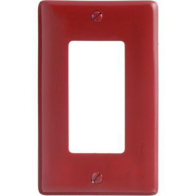 Bryant NP26R Styleline Rectangular Plate, 1-Gang, Standard, Red Nylon
