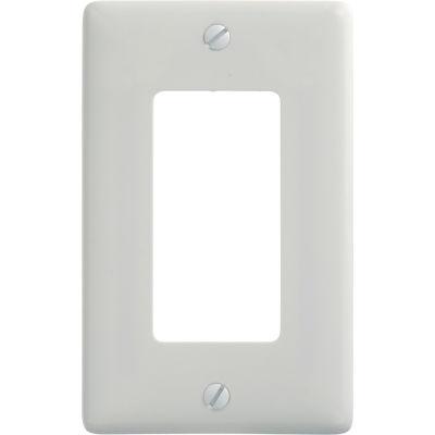 Bryant NP26W Decora Wallplate, 1-Gang, Nylon, White, Standard Size - Pkg Qty 10