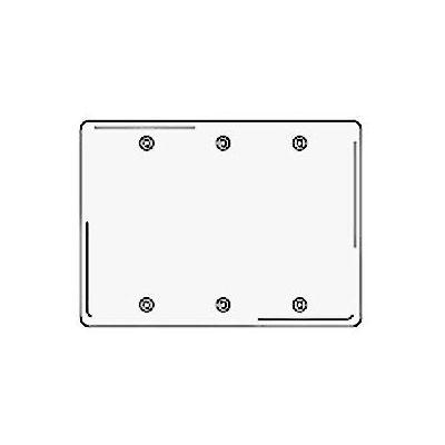 Bryant NP33W Box Mounted Blank Plate, 3-Gang, Standard, White Nylon