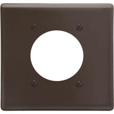 Bryant NP703 Single Receptacle Plate, 2-Gang 1 Device-Gang, Standard, Brown Nylon