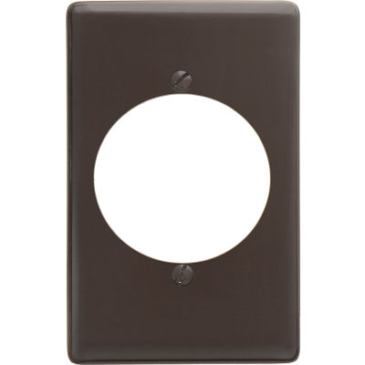 Bryant NP724 Single Receptacle Plate, 1-Gang, Standard, Brown Nylon, 2.15 open