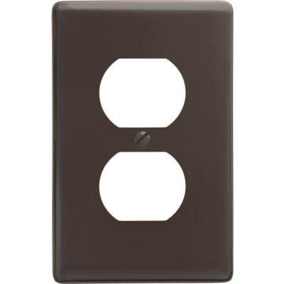 Bryant Np8 Duplex Plate, 1-Gang, Standard, Brown Nylon - Pkg Qty 25