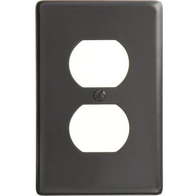 Bryant NP8BK Duplex Plate, 1-Gang, Standard, Black Nylon