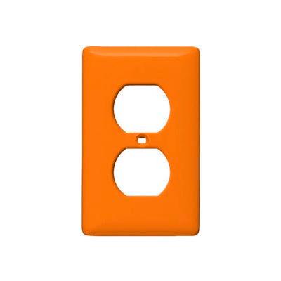Bryant NP8OR Duplex Plate, 1-Gang, Standard, Orange, Nylon