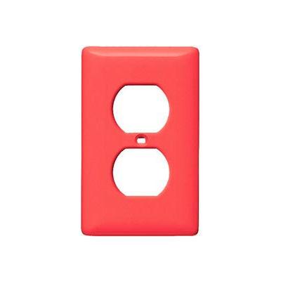 Bryant NP8R Duplex Plate, 1-Gang, Standard, Red Nylon