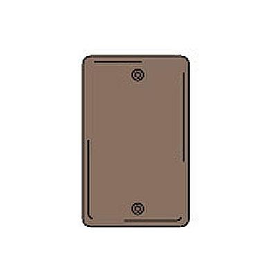 Bryant NPJ13 Box Mounted Blank Plate, 1-Gang, Mid-Size, Brown Nylon