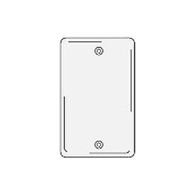 Bryant NPJ13W Box Mounted Blank Plate, 1-Gang, Mid-Size, White Nylon