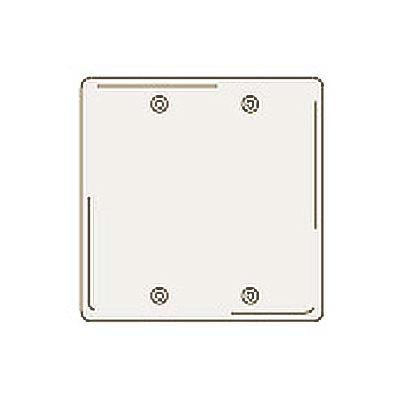Bryant NPJ23LA Box Mounted Blank Plate, 2-Gang, Mid-Size, Light Almond Nylon