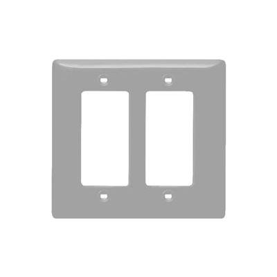 Bryant NPJ262GY Styleline Rectangular Plate, 2-Gang, Mid-Size, Gray Nylon