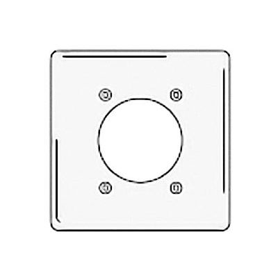 Bryant NPJ703W Single Receptacle Plate, 2-Gang 1 Device-Gang, Mid-Size, White Nylon